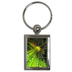 Electronics Machine Technology Circuit Electronic Computer Technics Detail Psychedelic Abstract Patt Key Chains (rectangle)