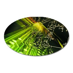 Electronics Machine Technology Circuit Electronic Computer Technics Detail Psychedelic Abstract Patt Oval Magnet
