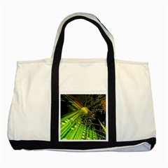 Electronics Machine Technology Circuit Electronic Computer Technics Detail Psychedelic Abstract Patt Two Tone Tote Bag by BangZart