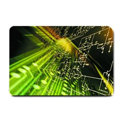Electronics Machine Technology Circuit Electronic Computer Technics Detail Psychedelic Abstract Patt Small Doormat
