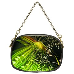 Electronics Machine Technology Circuit Electronic Computer Technics Detail Psychedelic Abstract Patt Chain Purses (one Side)  by BangZart
