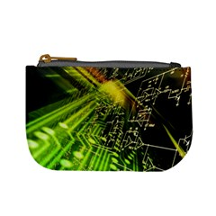 Electronics Machine Technology Circuit Electronic Computer Technics Detail Psychedelic Abstract Patt Mini Coin Purses by BangZart