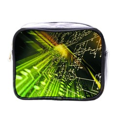 Electronics Machine Technology Circuit Electronic Computer Technics Detail Psychedelic Abstract Patt Mini Toiletries Bags