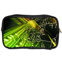 Electronics Machine Technology Circuit Electronic Computer Technics Detail Psychedelic Abstract Patt Toiletries Bags 2 Side