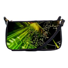Electronics Machine Technology Circuit Electronic Computer Technics Detail Psychedelic Abstract Patt Shoulder Clutch Bags
