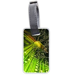Electronics Machine Technology Circuit Electronic Computer Technics Detail Psychedelic Abstract Patt Luggage Tags (two Sides)