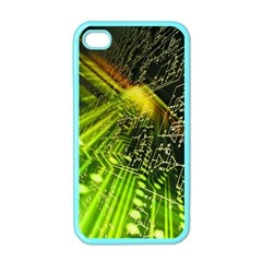 Electronics Machine Technology Circuit Electronic Computer Technics Detail Psychedelic Abstract Patt Apple Iphone 4 Case (color) by BangZart
