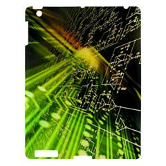 Electronics Machine Technology Circuit Electronic Computer Technics Detail Psychedelic Abstract Patt Apple Ipad 3/4 Hardshell Case