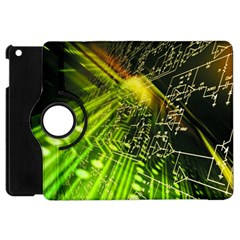 Electronics Machine Technology Circuit Electronic Computer Technics Detail Psychedelic Abstract Patt Apple Ipad Mini Flip 360 Case by BangZart