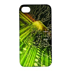 Electronics Machine Technology Circuit Electronic Computer Technics Detail Psychedelic Abstract Patt Apple Iphone 4/4s Hardshell Case With Stand by BangZart