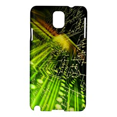 Electronics Machine Technology Circuit Electronic Computer Technics Detail Psychedelic Abstract Patt Samsung Galaxy Note 3 N9005 Hardshell Case by BangZart