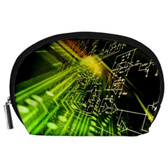 Electronics Machine Technology Circuit Electronic Computer Technics Detail Psychedelic Abstract Patt Accessory Pouches (large)