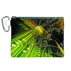 Electronics Machine Technology Circuit Electronic Computer Technics Detail Psychedelic Abstract Patt Canvas Cosmetic Bag (xl) by BangZart