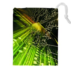 Electronics Machine Technology Circuit Electronic Computer Technics Detail Psychedelic Abstract Patt Drawstring Pouches (xxl)