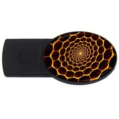 Honeycomb Art Usb Flash Drive Oval (2 Gb) by BangZart