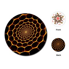 Honeycomb Art Playing Cards (round)