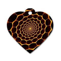 Honeycomb Art Dog Tag Heart (one Side)