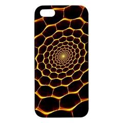 Honeycomb Art Apple Iphone 5 Premium Hardshell Case by BangZart