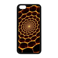Honeycomb Art Apple Iphone 5c Seamless Case (black) by BangZart
