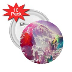 Clouds Multicolor Fantasy Art Skies 2 25  Buttons (10 Pack)