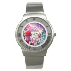 Clouds Multicolor Fantasy Art Skies Stainless Steel Watch by BangZart