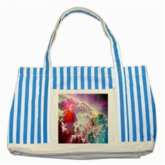 Clouds Multicolor Fantasy Art Skies Striped Blue Tote Bag