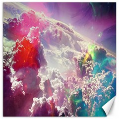 Clouds Multicolor Fantasy Art Skies Canvas 16  X 16