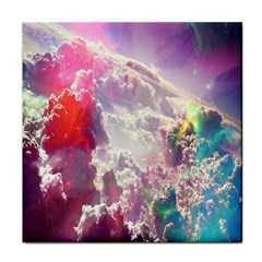 Clouds Multicolor Fantasy Art Skies Face Towel