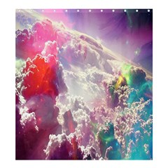 Clouds Multicolor Fantasy Art Skies Shower Curtain 66  X 72  (large)