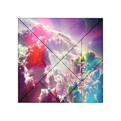 Clouds Multicolor Fantasy Art Skies Acrylic Tangram Puzzle (4  X 4 ) by BangZart