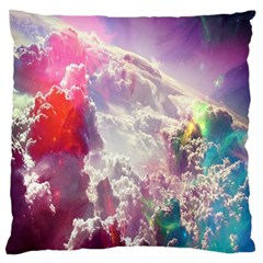 Clouds Multicolor Fantasy Art Skies Large Flano Cushion Case (one Side)