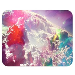 Clouds Multicolor Fantasy Art Skies Double Sided Flano Blanket (medium)  by BangZart
