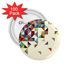 Retro Pattern Of Geometric Shapes 2 25  Buttons (100 Pack)  by BangZart