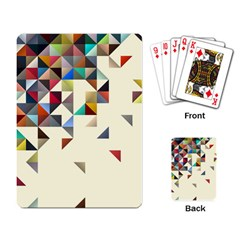 Retro Pattern Of Geometric Shapes Playing Card