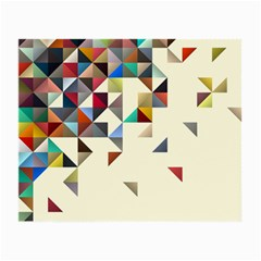 Retro Pattern Of Geometric Shapes Small Glasses Cloth (2 Side) by BangZart
