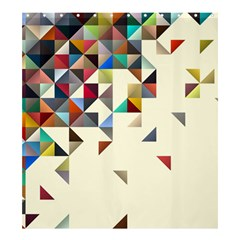 Retro Pattern Of Geometric Shapes Shower Curtain 66  X 72  (large)  by BangZart