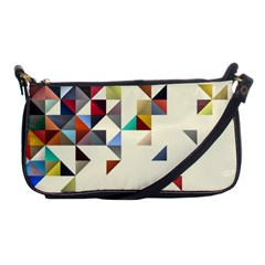 Retro Pattern Of Geometric Shapes Shoulder Clutch Bags
