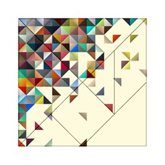 Retro Pattern Of Geometric Shapes Acrylic Tangram Puzzle (6  X 6 )