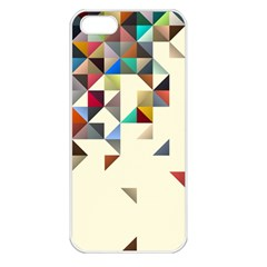 Retro Pattern Of Geometric Shapes Apple Iphone 5 Seamless Case (white)