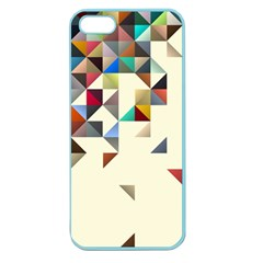 Retro Pattern Of Geometric Shapes Apple Seamless Iphone 5 Case (color) by BangZart