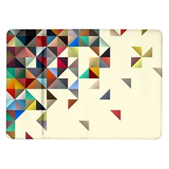 Retro Pattern Of Geometric Shapes Samsung Galaxy Tab 10 1  P7500 Flip Case