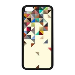 Retro Pattern Of Geometric Shapes Apple Iphone 5c Seamless Case (black)