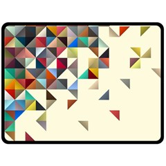 Retro Pattern Of Geometric Shapes Double Sided Fleece Blanket (large)  by BangZart