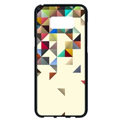 Retro Pattern Of Geometric Shapes Samsung Galaxy S8 Plus Black Seamless Case
