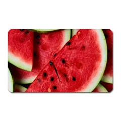 Fresh Watermelon Slices Texture Magnet (rectangular) by BangZart