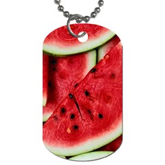 Fresh Watermelon Slices Texture Dog Tag (one Side)