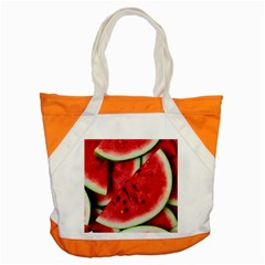 Fresh Watermelon Slices Texture Accent Tote Bag