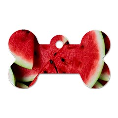 Fresh Watermelon Slices Texture Dog Tag Bone (one Side)