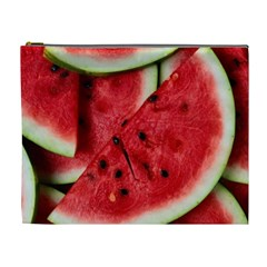 Fresh Watermelon Slices Texture Cosmetic Bag (xl)