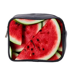 Fresh Watermelon Slices Texture Mini Toiletries Bag 2 Side